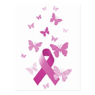 Cinta rosada de la conciencia tarjetas postales
