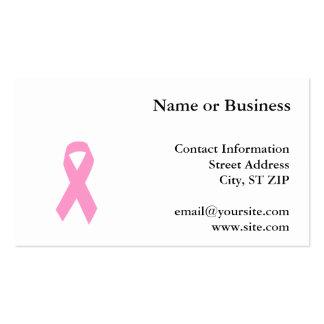 Cinta rosada de la conciencia tarjetas de visita