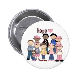 Cinta rosada de la esperanza pins