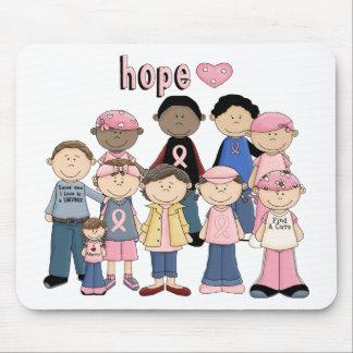 Cinta rosada de la esperanza tapete de raton