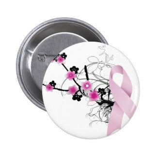 Cinta rosada de la flor de cerezo pin