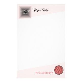 "Cinta rosada de la flor folleto 5.5"" x 8.5"""