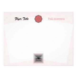 "Cinta rosada de la flor folleto 8.5"" x 11"""