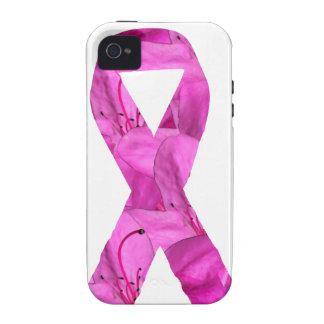 Cinta rosada de la flor iPhone 4 carcasas