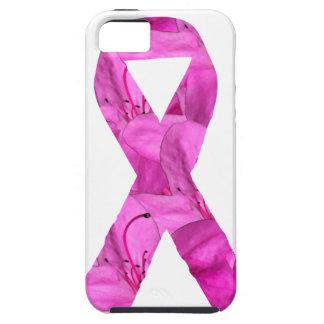 Cinta rosada de la flor iPhone 5 carcasas