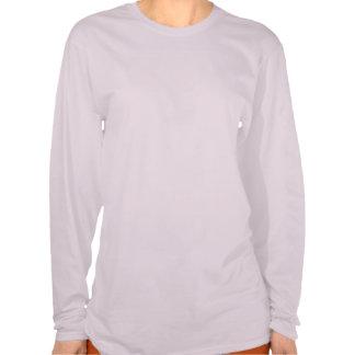 Cinta rosada de la manga larga del cáncer de pecho camiseta