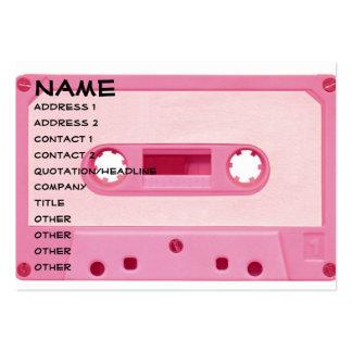 Cinta rosada de la mezcla tarjetas de visita grandes