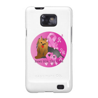 Cinta rosada de Yorkshire Terrier Samsung Galaxy SII Funda
