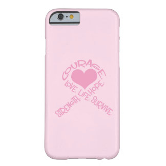 Cinta rosada del caso del iPhone 6 del cáncer de