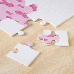 Cinta rosada del Dachshund para el cáncer Rompecabeza