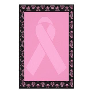 Cinta rosada del damasco sin forro papelería