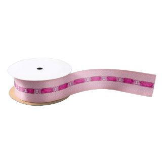 Cinta rosada del regalo del cordón lazo de raso