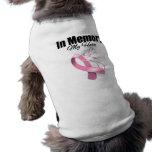 Cinta rosada en memoria de mi héroe camisetas de mascota