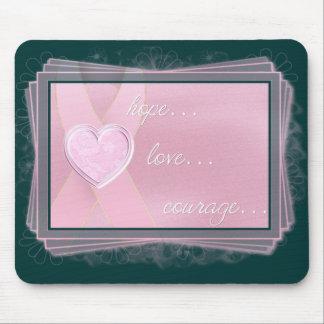 Cinta rosada/esperanza/amor/valor rosados Mousepad Tapete De Ratón