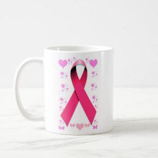 Cinta rosada - esperanza, amor, y cuidado taza clásica