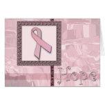 Cinta rosada - esperanza tarjeta