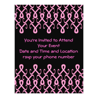 Cinta rosada hoy tarjetas publicitarias
