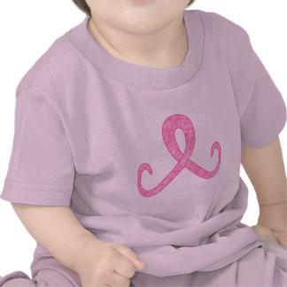 Cinta rosada hoy camisetas