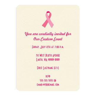 Cinta rosada anuncio personalizado