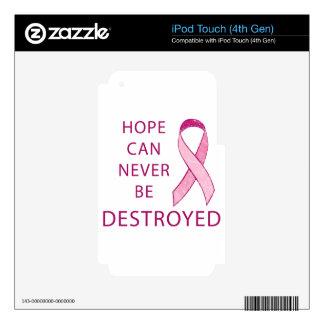 Cinta rosada: La esperanza puede nunca ser Calcomanías Para iPod Touch 4G