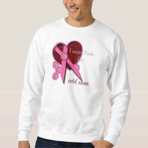 Cinta rosada llevo el rosa para (añada el nombre) jersey