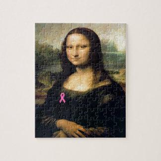 Cinta rosada Mona Lisa Puzzle