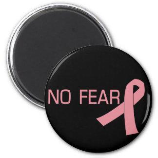 Cinta rosada NINGUNA conciencia del cáncer de pech Imán Redondo 5 Cm