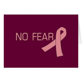 Cinta rosada NINGUNA conciencia del cáncer de Tarjeta De Felicitación
