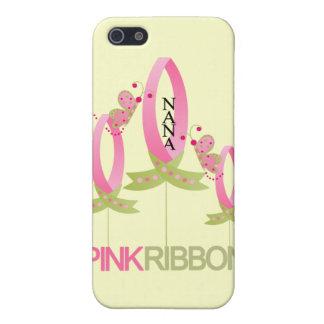 Cinta rosada para el caso del iphone 4 de Nana iPhone 5 Cárcasa