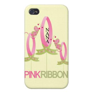Cinta rosada para el caso del iphone 4 de Nana iPhone 4 Cárcasas