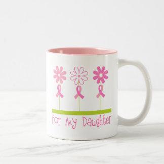 Cinta rosada para mi hija taza de dos tonos