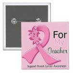 Cinta rosada para mi profesor - cáncer de pecho pin