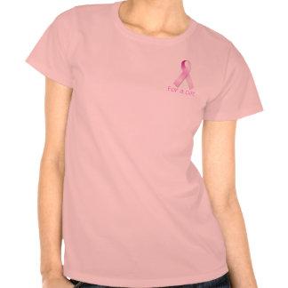 Cinta rosada para una curación t-shirt