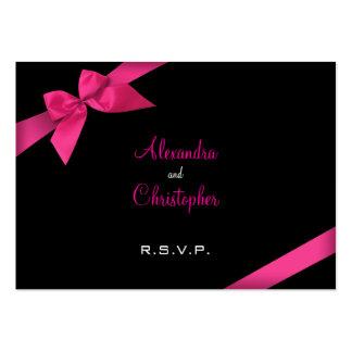 Cinta rosada RSVP Minicard Plantillas De Tarjetas De Visita