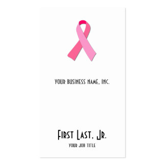 Cinta rosada tarjetas personales