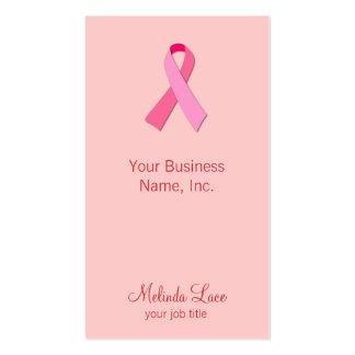 Cinta rosada tarjeta de negocio