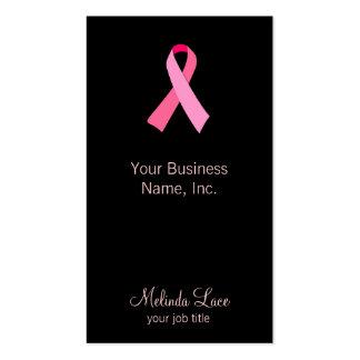 Cinta rosada tarjetas de visita