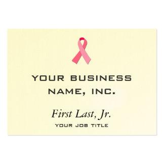 Cinta rosada tarjetas de visita grandes
