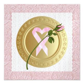 """Cinta rosada - una ocasión elegante - SRF Invitación 5.25"""" X 5.25"""""""