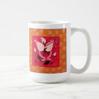 Cinta rosada única: Taza con los rosas