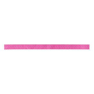 Cinta rosada y blanca del lunar lazo de raso