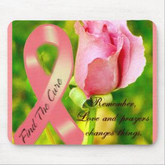 Cinta rosada y el Rose_ Mousepad Alfombrilla De Ratones
