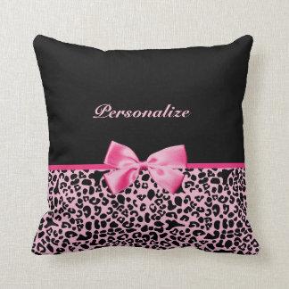 Cinta rosada y negra de moda de las rosas fuertes almohadas