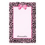 Cinta rosada y negra de moda de las rosas fuertes  papelería de diseño