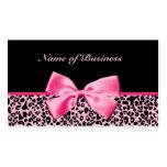 Cinta rosada y negra de moda de las rosas fuertes  tarjetas de visita