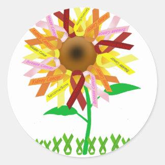 Cinta Sunflower.png Pegatina Redonda