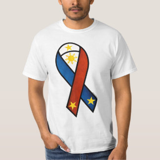 Cinta temática de la bandera filipina camisas