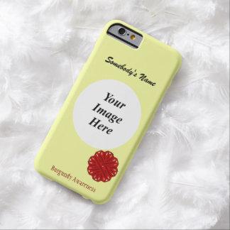Cinta Tmpl de la flor de Borgoña de Kenneth Funda Barely There iPhone 6