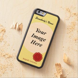 Cinta Tmpl de la flor de Borgoña de Kenneth Funda De iPhone 6 Bumper Arce
