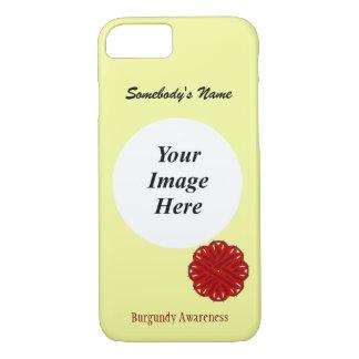Cinta Tmpl de la flor de Borgoña de Kenneth Funda iPhone 7